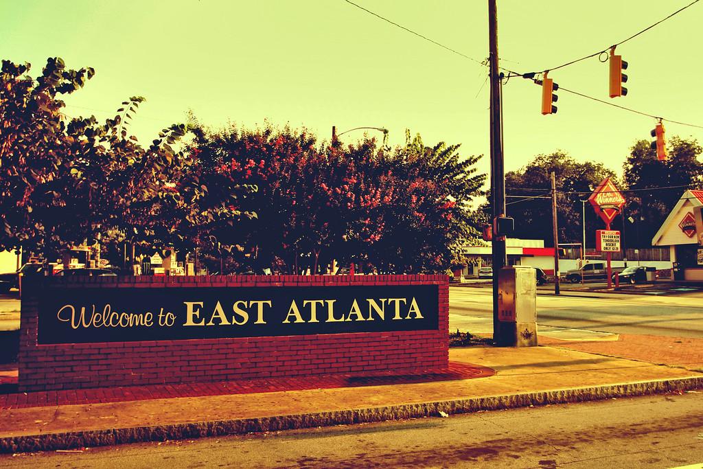 Atlanta, GA: East Atlanta's former welcome sign off of Moreland Avenue.