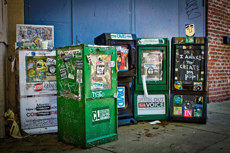 Atlanta, GA: News stands in East Atlanta.