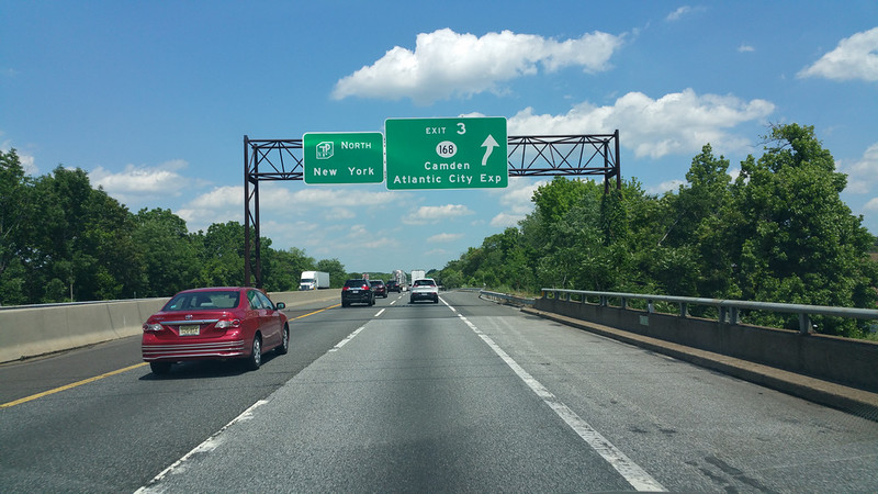 our exit off the New Jersey Turnpike --toward Atlantic City