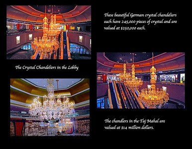 The Crystal Chandeliers in the Lobby of the Taj Mahal