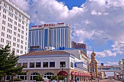 View of the Boardwalk Near the Taj Mahal Hotel