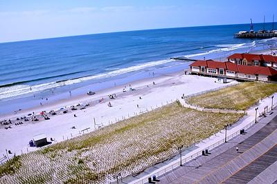 View of the Atlantic City Beach and The Atlantic Ocean