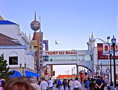 On the Boardwalk in Atlantic City near the Taj Mahal