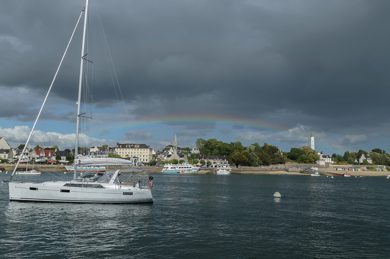 Shallow rainbow, Benodet, from Sainte Marine