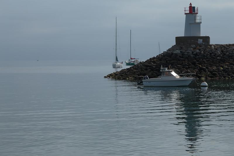 Reflections in the harbour entrance, Sauzon, Belle Île
