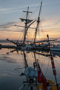 Camaret dawn, with square rigger