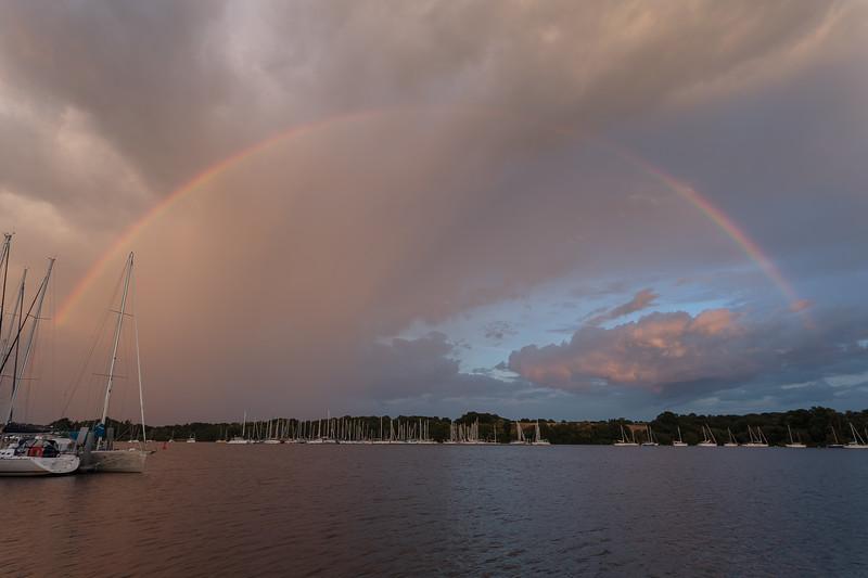 Rainbow on the Vilaine at Arzal