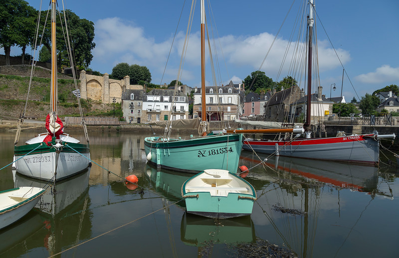 Boat reflections, St Goustain, Brittany