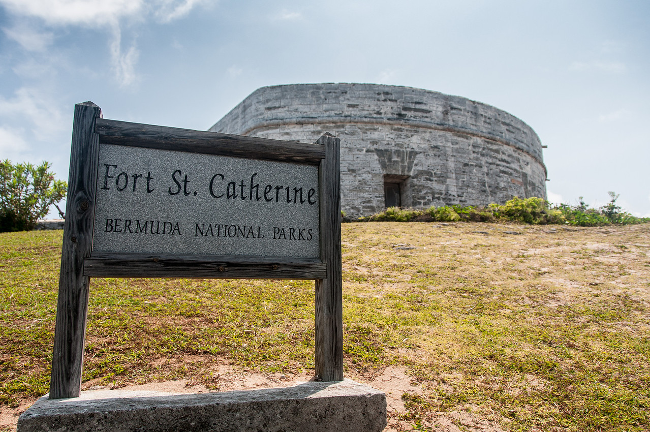 Sign at Fort St. Catherine in St. George's Island, Bermuda