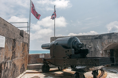 Canon at Fort St. Catherine in St. George's Island, Bermuda