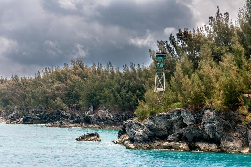 Tower near the beach at St. George's Island, Bermuda