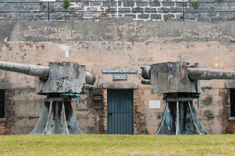 Alexandra Battery in Fort St. Catherine in St. George's Island, Bermuda