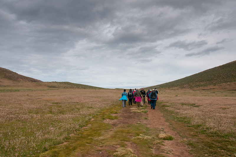 Hiking in New Island, Falkland Islands