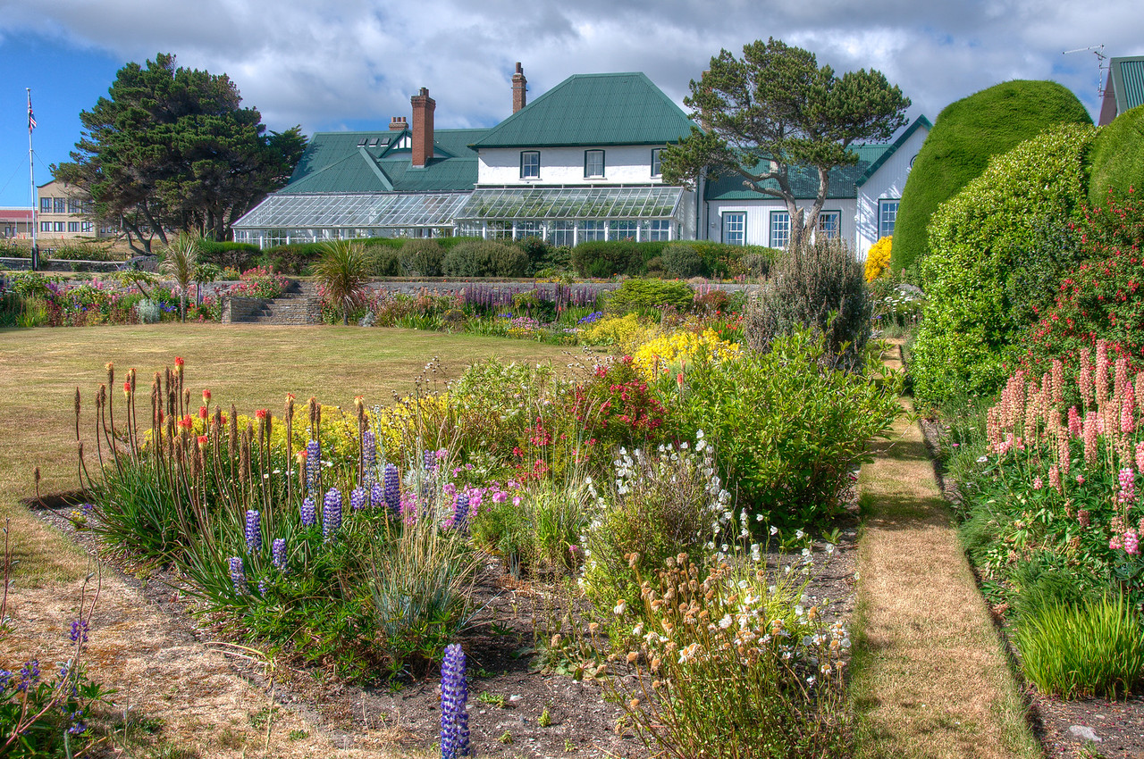 The Government House in Stanley, East Falkland Island