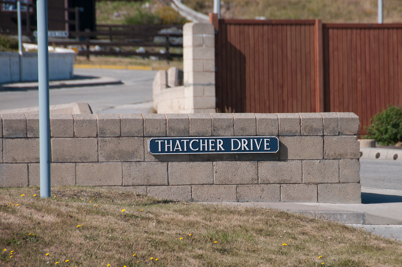 Thatcher Drive in Stanley, Falkland Islands