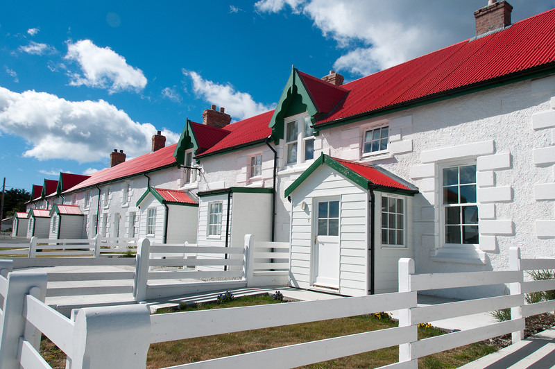 Traditional buildings in Stanley, Falkland Islands