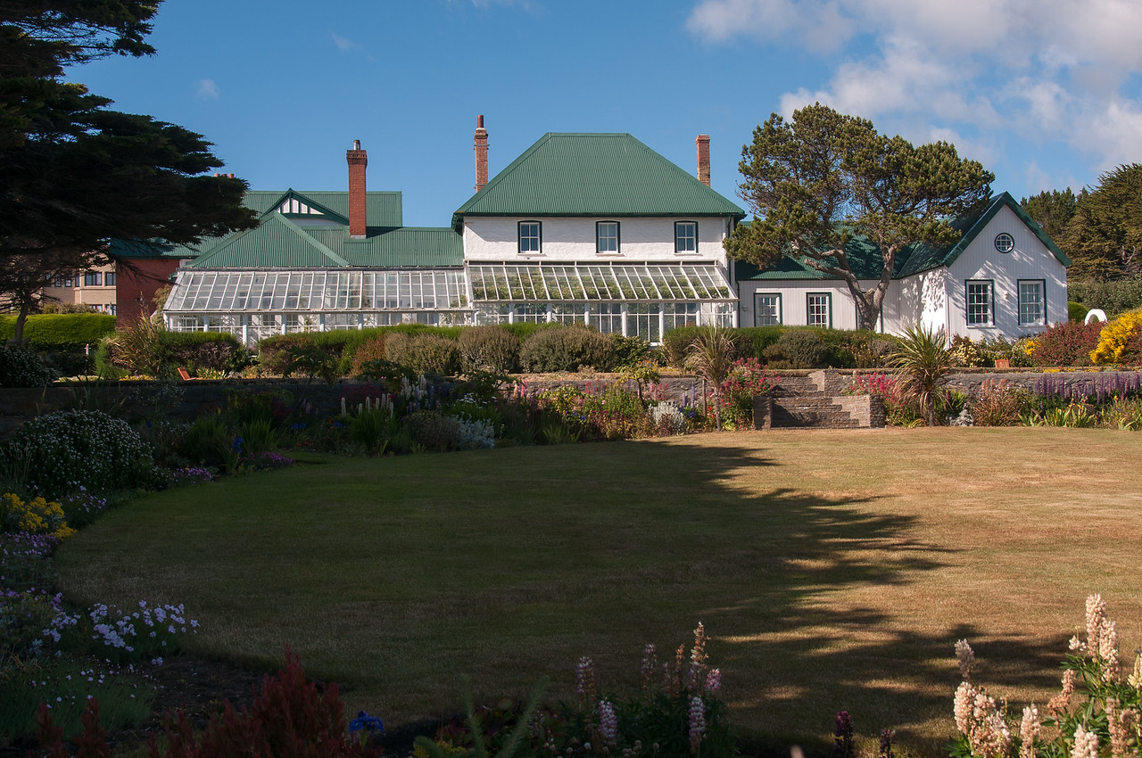 The Government House in Stanley, Falkland Islands