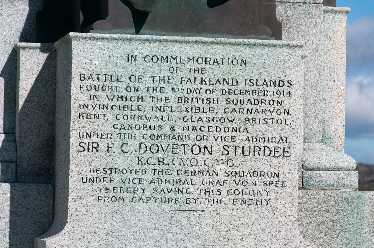 Battle of the Falkland Islands memorial in Stanley, Falkland Islands