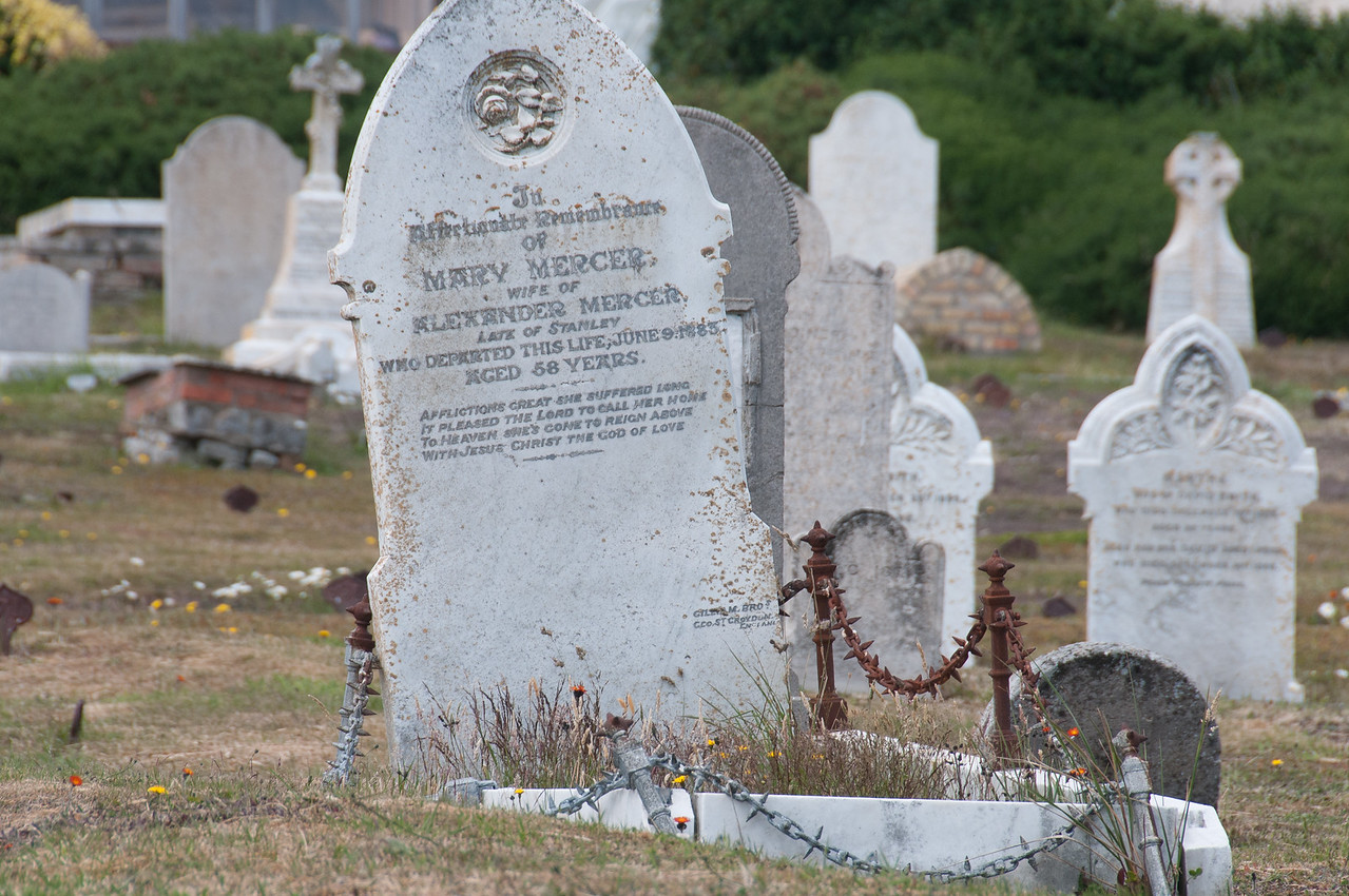 Graveyard in Stanley, Falkland Islands