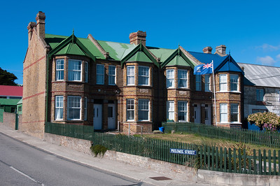 Victorian houses in Stanley, Falkland Islands