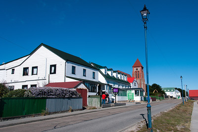 Street scene in Stanley, Falkland Islands