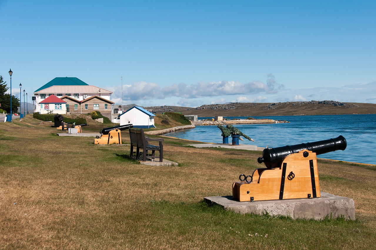 Canons in Stanley, Falkland Islands