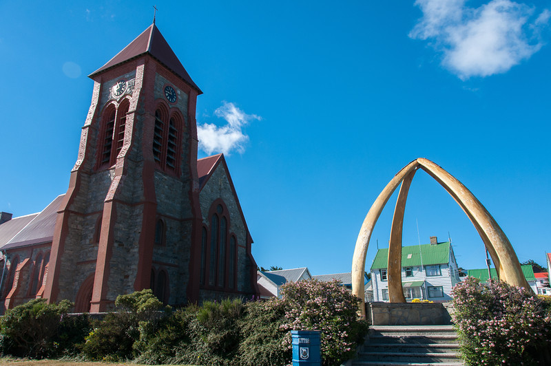 Whale bone arch in Christ Church Cathedral in Stanley, Falkland Islands