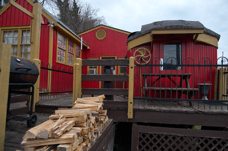 Rail Car Diner and Firewood
