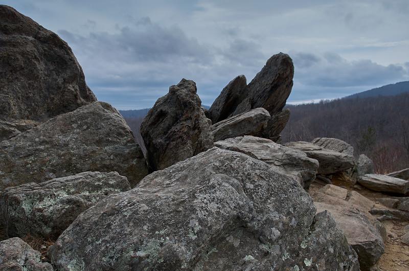 Gray rock, gray cloud