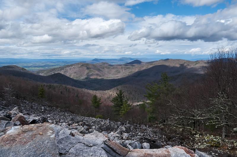 View west from Blackrock Summit