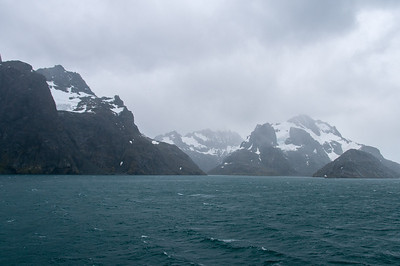 Glacier in Drygalski Fjord on South Georgia Island