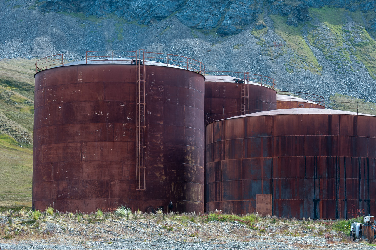 Former whaling station in Grytviken, South Georgia Island