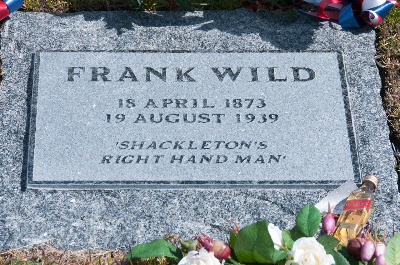 Frank Wild grave in Grytviken, South Georgia Island