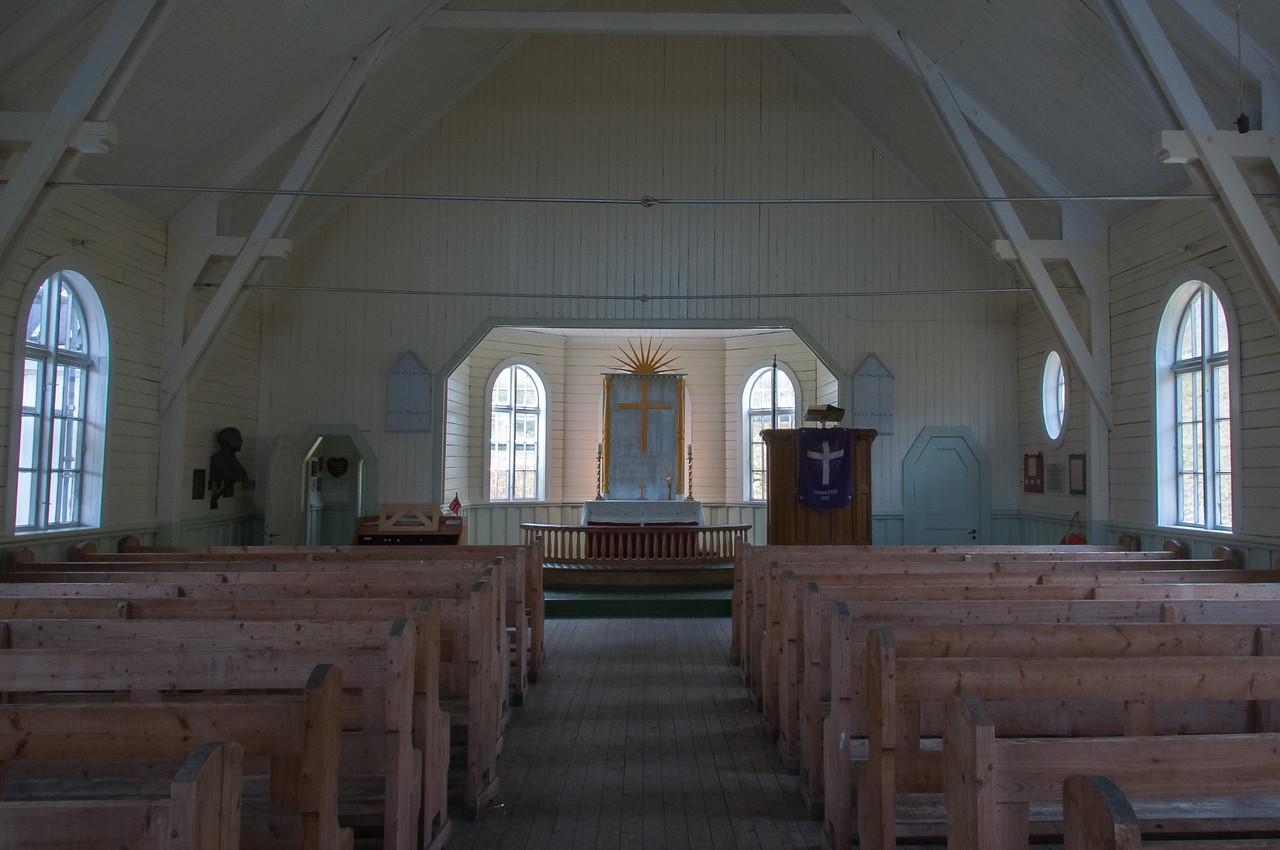 Inside The Norwegian Church in Grytviken