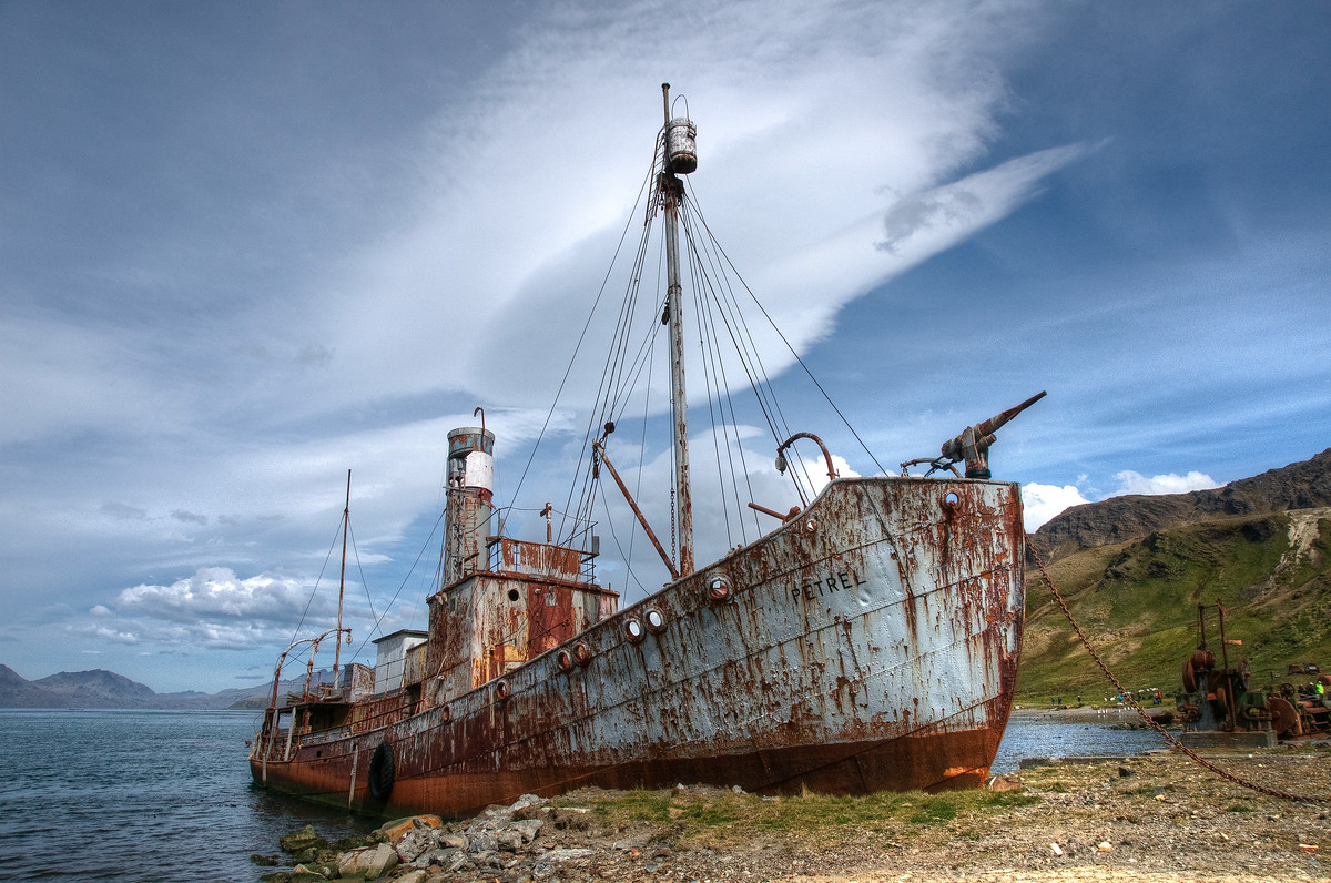 Abandoned Whaling Ship in Grytviken, South Georgia Island