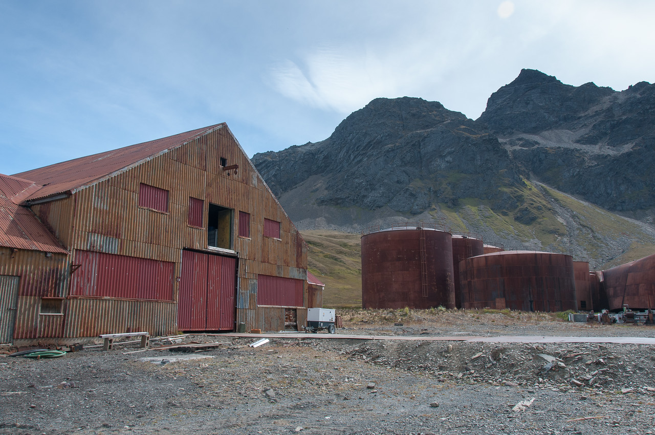 Former whaling station in Grytvike, South Georgia Island