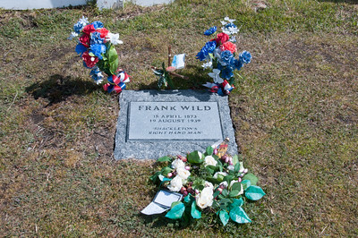 Frank Wild grave in Grytviken, South Georgia Island