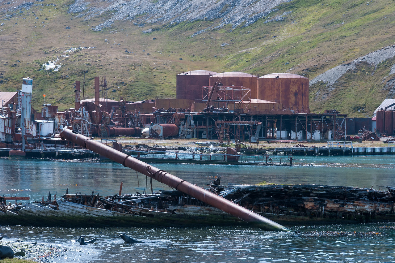 Whaling station in Grytviken, South Georgia Island