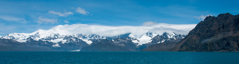 Panorama of Grytviken, South Georgia Island