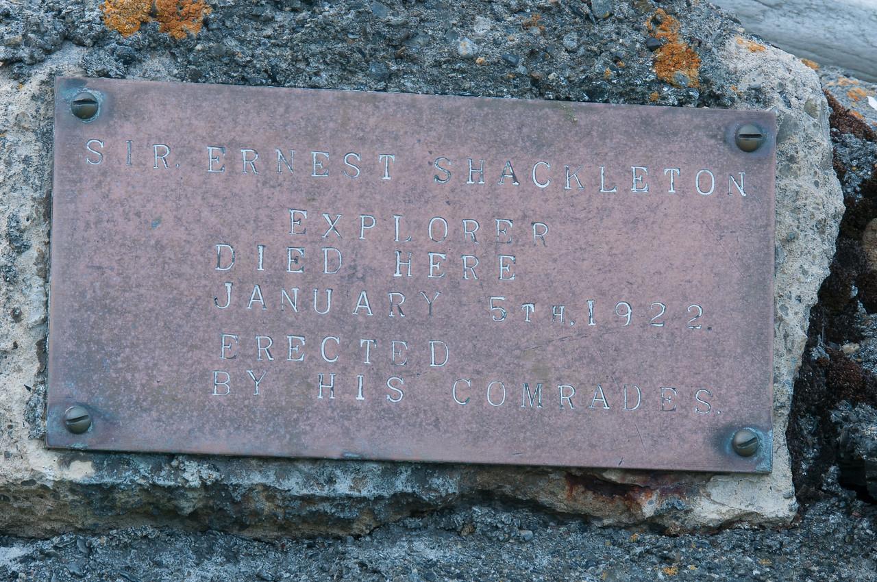 Shackleton's Cross in Grytviken