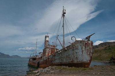 Shipwreck in Grytviken, South Georgia Island