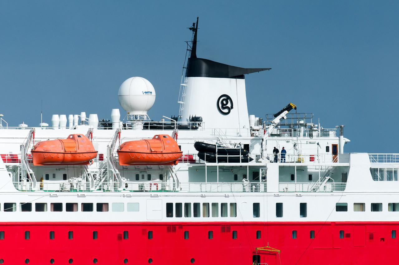 Cruise ship in Moltke Harbor