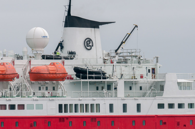 Cruise ship at Salisbury Plain, South Georgia Island