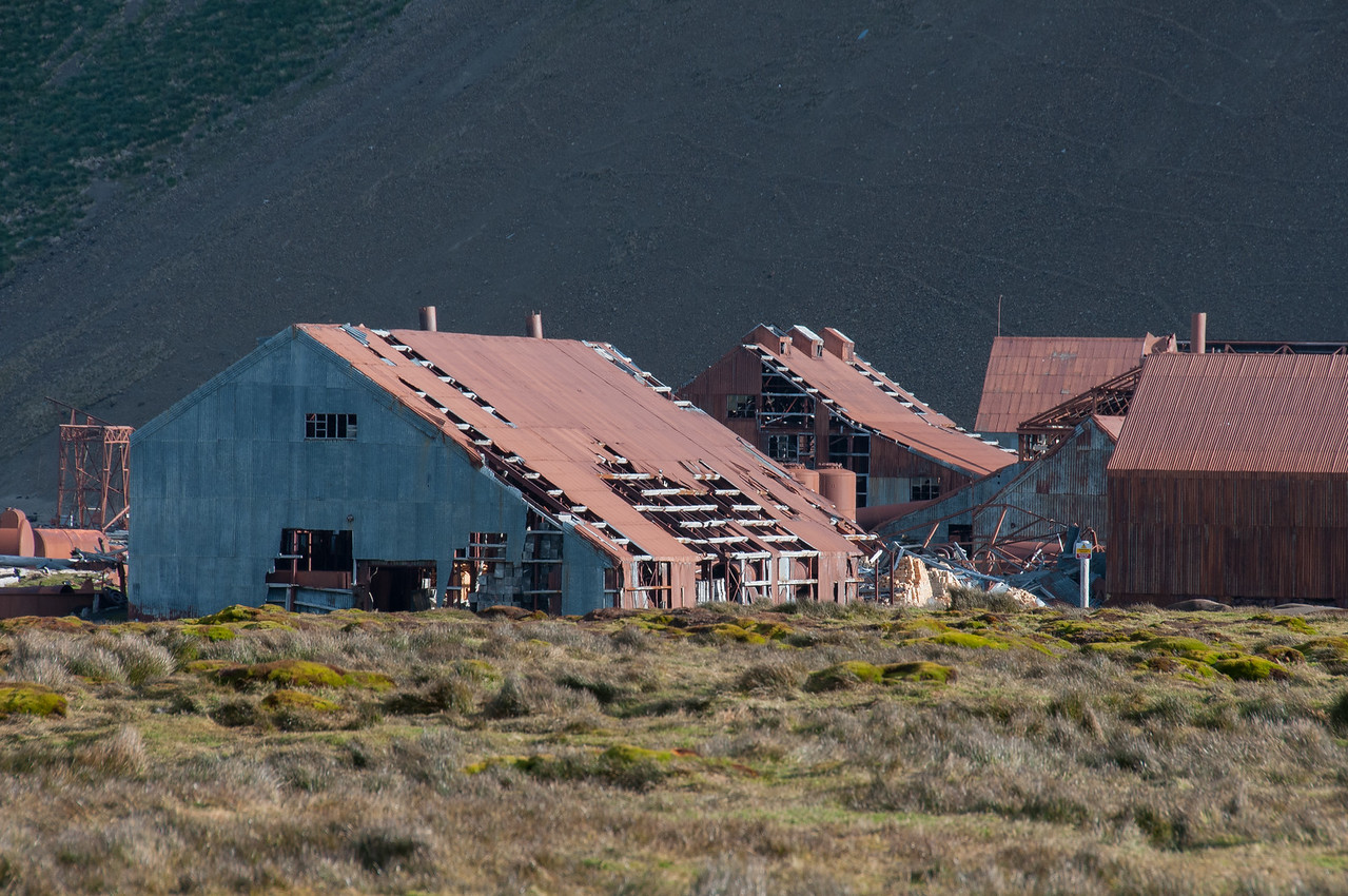 Former whaling station in Stromness, South Georgia Island