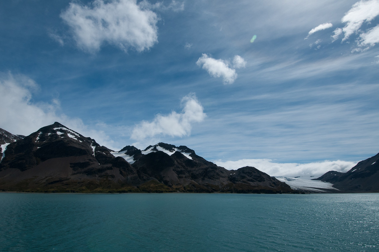 Scenery at the Stromness Bay in South Georgia Island