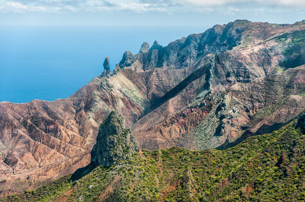 Lot and Lot's Wife Rock Formation on the Island of St. Helena