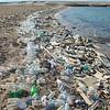 Polluted Beach on the Red Sea in Sharm el-Naga, Port Safaga, Egypt