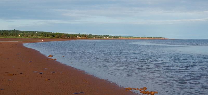 Low tide line.
