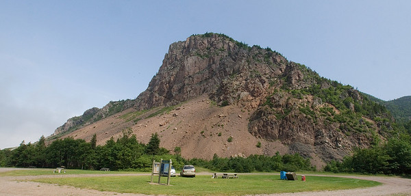 Shortly after entering the Cape Breton Highlands Nation Park north of Cheticamp, is the Grand Falaise picnic area