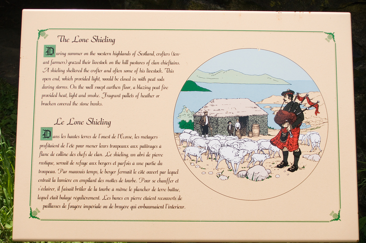 Our next stop was the Lone Shieling.